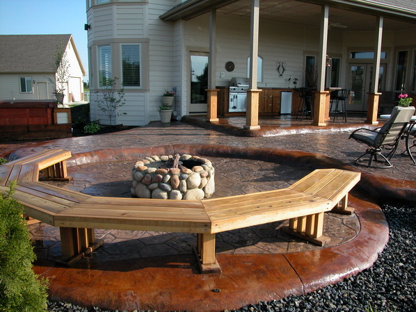 boise idaho stamped concrete stained concrete patio design and construction